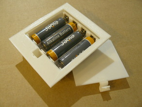 AA Cell Battery Box with Snap Lid, 1x AA to 4x AA Sizes
