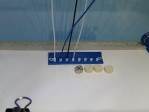 Alternate filament catch, M8 rod holder, Washer/Magnet holders for 3D printer cabinet