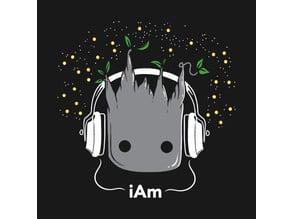 DJ Baby Groot Lithophane