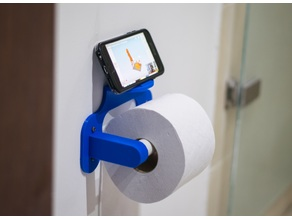 Toilet Paper Phone Stand