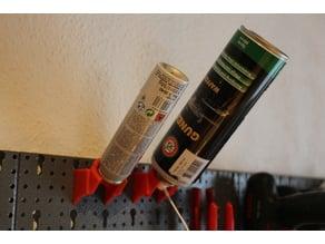 Pegboard All in One Spraycan Holder