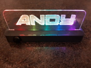 Programmable Rainbow Light Up Sign - Microbit