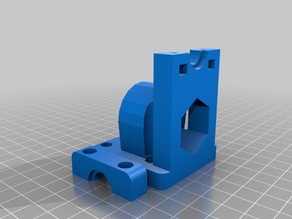 Parametric E3D clone / Jhead / Hot end mount with proximity sensor