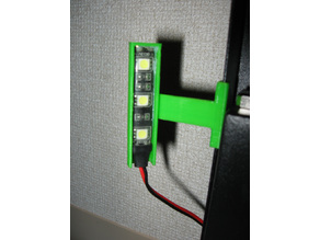 LED Light Mounting Clip (Anycubic i3 Mega Compatible)