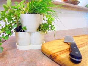 Parametric Stackable Sub-irrigating Plant Pot & Dish