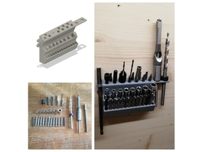 Tool hanger for drill bits and socket bits