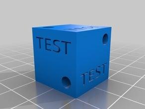 Calibration Testcube with bores