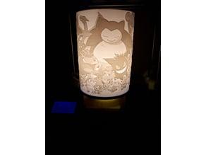 Pokemon lamp 3D
