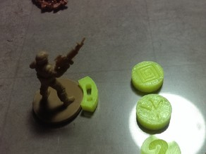 Mars Attacks - Miniatures Game by Mantic - Tokens