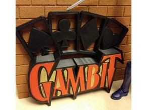 Gambit X-Men Shelf Sign