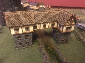 Fantasy Wargames House / Building over River 15mm