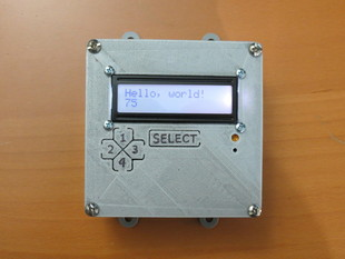 Arduino LCD button faceplate