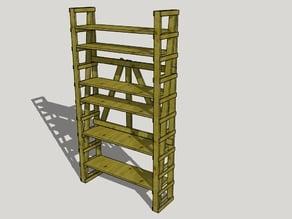 Enzo Mari Autoprogettazione Adjustible Shelving Unit