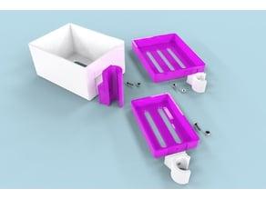 Verschiedene Seife- und Duschgel Halter / Various soap and shower gel holders