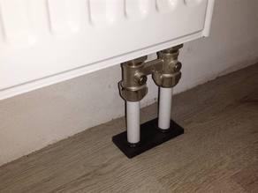 Double rosette for heating pipe / Doppelrosetten Heizungsrohr