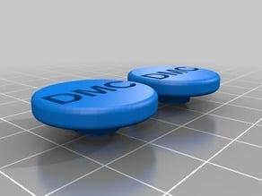 "My Customized fidget spinner cap with text ""DMC"","