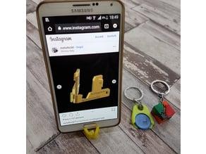 keychain smartphone stand