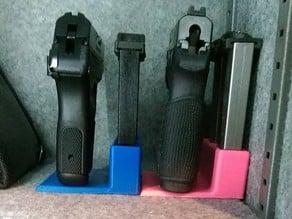 Handgun Stand and Magazine holder