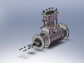 Steam engine cylnder