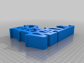 My Customized Variable WORD Sculpture