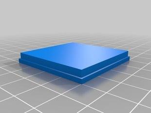 Cube box with lithopane