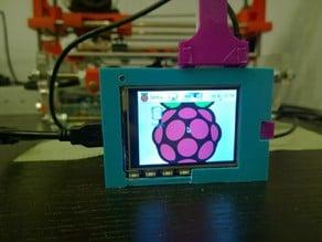 Raspberry Pi case with TFT display