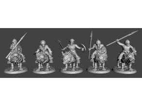 28mm - Orc / Goblin / Hobgoblin Wolf Rider Cavalry Squad