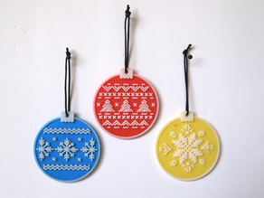 Cross Stitch Bauble Series