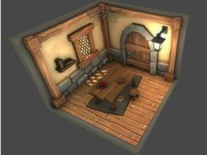 Interior of house style cartoon