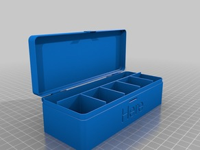 Customizable hinged box 1xN