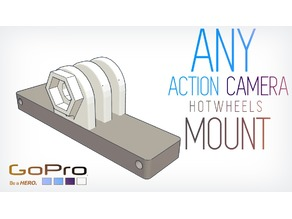 Any GoPro style camera Hotwheels mount