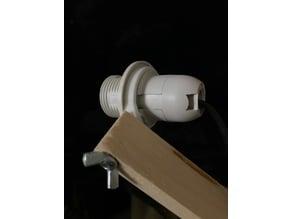 E14 lamp bulb socket to M4 flat head screw adapter