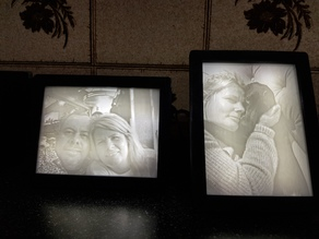 Lithophane Light Box / Frame for 120mm - 90mm Lithophanes