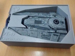 VT-49 Decimator Holder (X-Wing Miniatures) for Stanley organizer