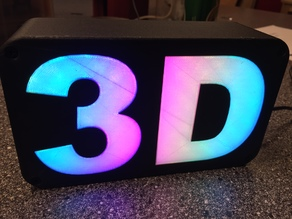 3D LED text - dual extrude test