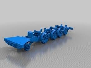 """Nueva locomotora Baldwin """"La Robla"""", ruedas"""