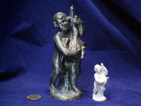 Garden Statue - Boy with Goose 3D Scan
