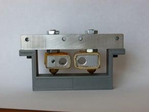 Dualstrustion nozzle leveling Fixture