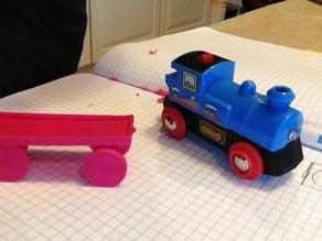 Single Print Train Car - Brio (wooden track) sized