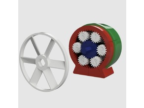 -60:1 Compound Planetary Gear Reducer