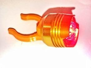 Fixie Bike Led Adapter back RED Light Clamp
