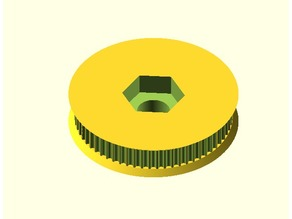Parametric Pulley for toothed belts in OpenSCAD