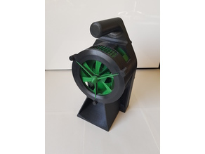 Air Raid Siren - hand crank version 3 so it fits on the printer