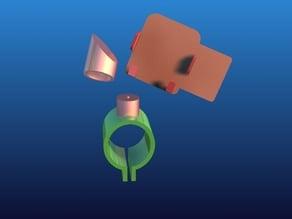 Universal Bar mount media/phone holder