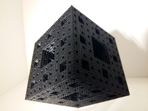Printable Menger Sponge (4th iteration)