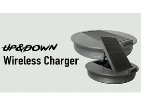 UP&DOWN Wireless Charger for iPhone X or any Phone