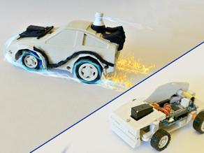 DeLorean BackToFuture RC Car w/ Arduino - 3DRacers