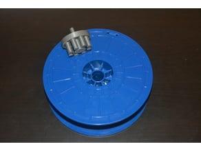 Blue PLA Filament Spool Winder for Dremel 3D Printer