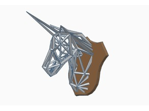 Wireframe Unicorn Trophy