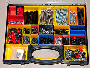 Assorted bins for the Stanley organizer case